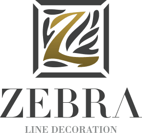 Zebra Line Decoration Footer Logo
